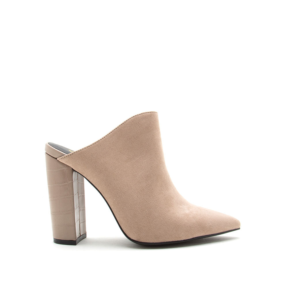 Signal-113 Taupe Mule Pumps