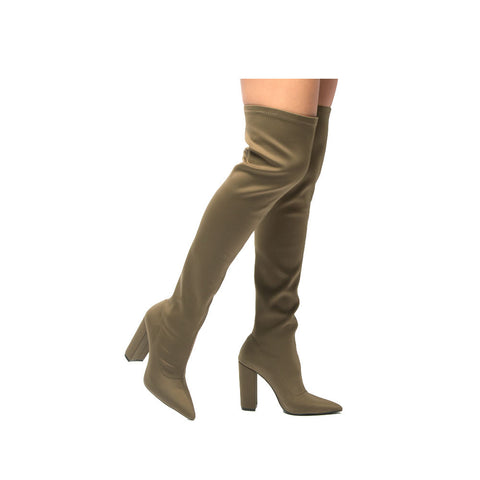 SIGNAL-20 Khaki Knee High Boot