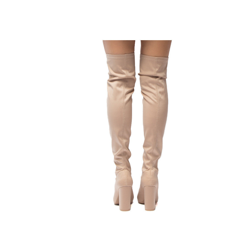SIGNAL-20 Nude Knee High Boot
