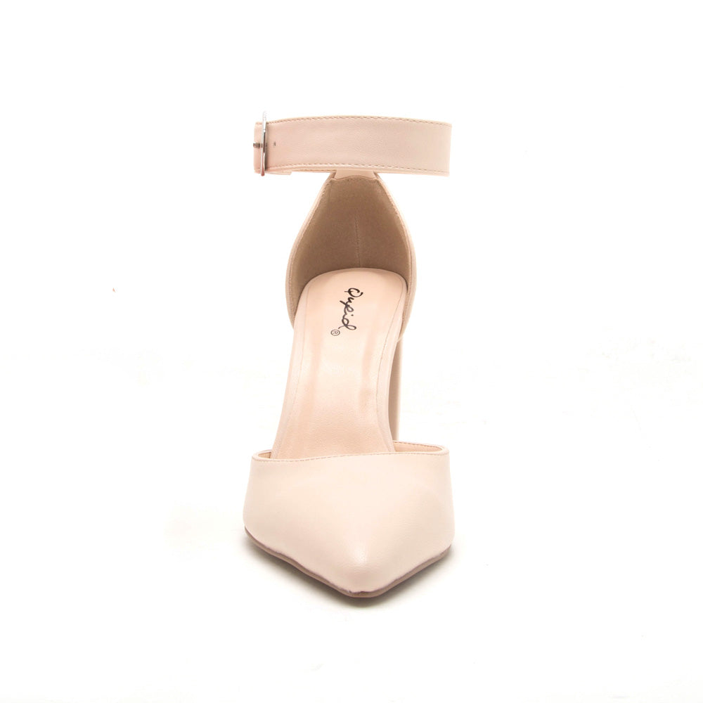 Signal-40 Nude Ankle Strap On Pump
