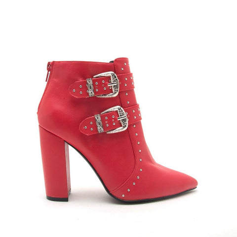 Signal-51X Red Studded Bootie