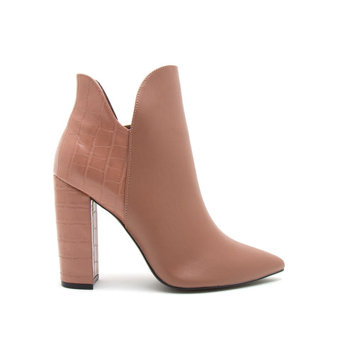 Signal-84X Mocha Pointed Toe Booties