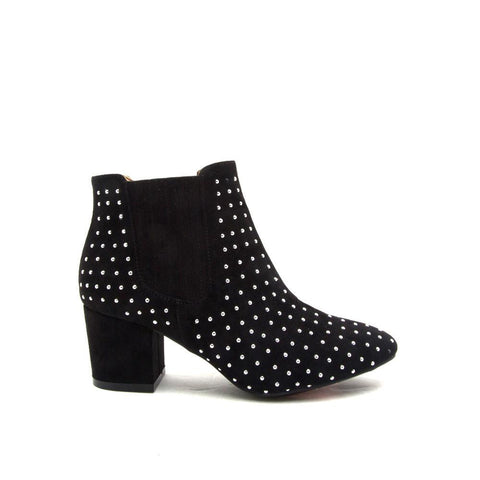 Skipper-03 Black Studded Bootie