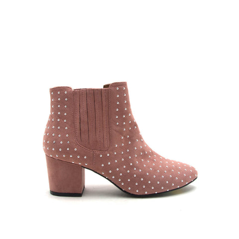 Skipper-03 Mauve Studded Bootie