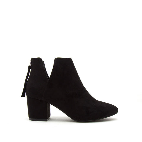 Skipper-11 Black Stretched Booties