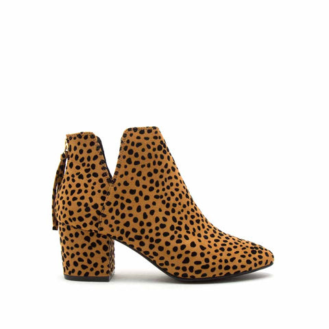 Skipper-11 Camel Black Leopard Booties