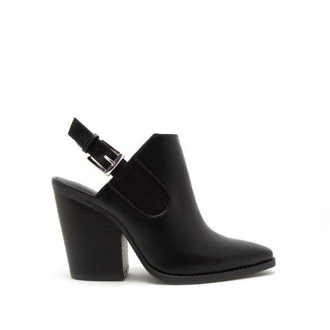 Slay-14 Black Mule Slingbacks