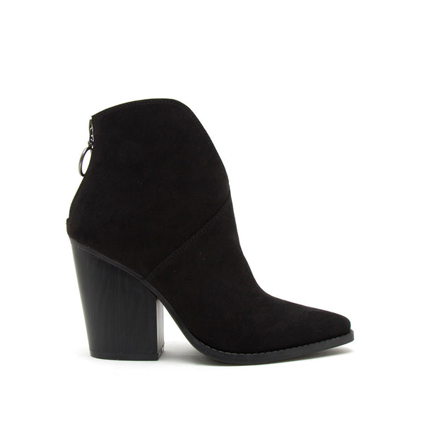 Slay-15A Black Suede Booties