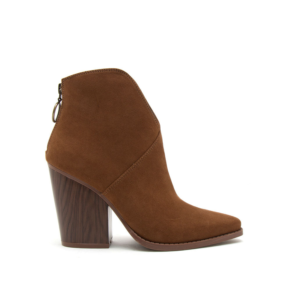 Slay-15A Maple Suede Booties