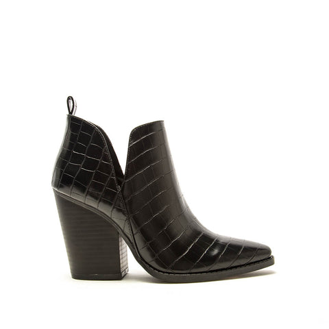 Slay-24 Black Croco Booties