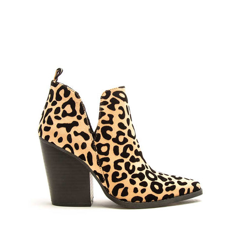 Slay-24 Tan Black Leopard Booties