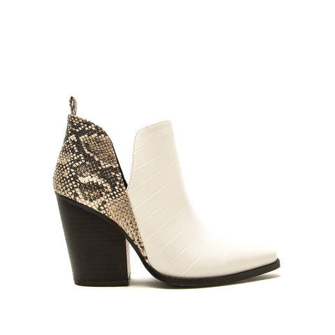 Slay-24 White Croco Booties