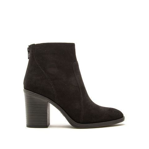 Snatch-01 Black Suede Western Booties