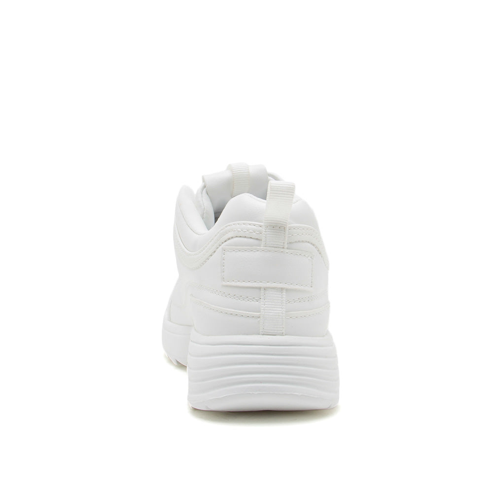 Sneaky-01X White Lace Up Sneakers
