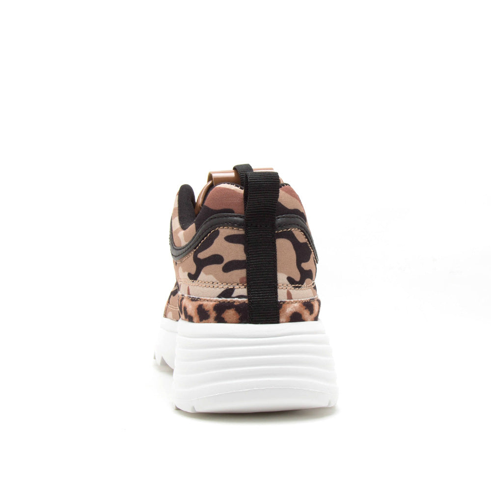 Sneaky-04 Camel Camouflage Sneakers