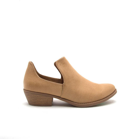 Sochi-113X Tan Open Side Bootie