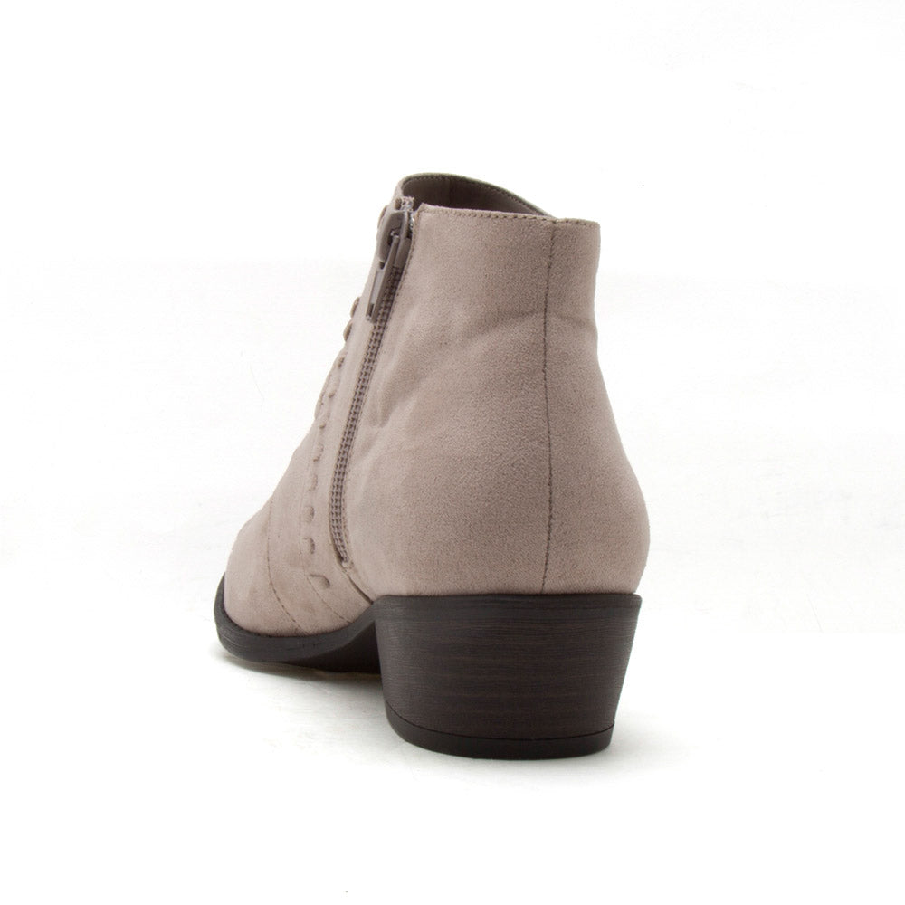 Sochi-152 Taupe Whipstitch Ankle Bootie
