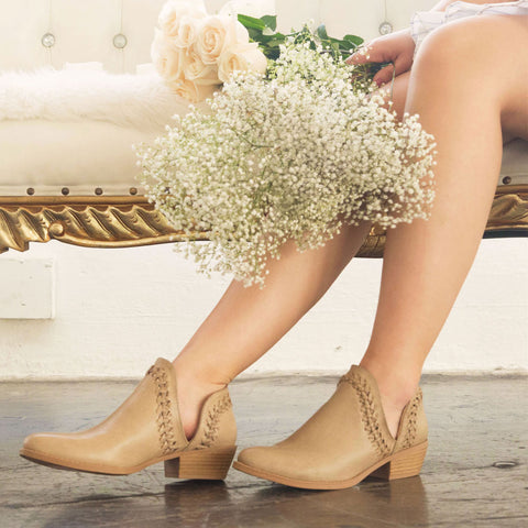 Sochi-154 Taupe Side Cut Bootie