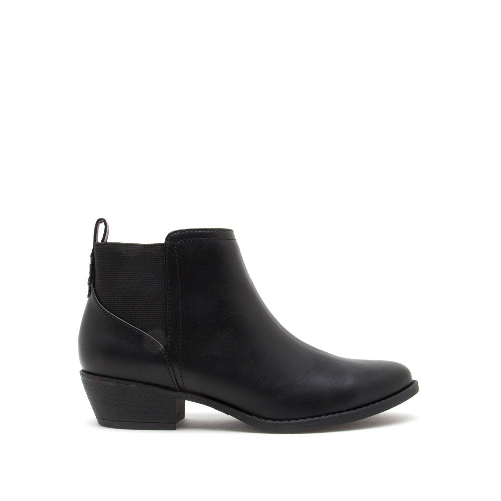 Sochi-217 Black Chelsea Booties