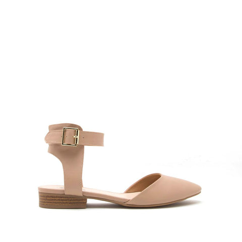 Soric-12X Toffee Ankle Strap Ballerina