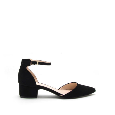 Swing-01 Black Ankle Strap Sandal