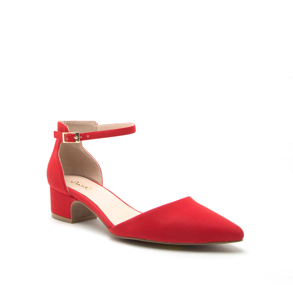 Swing-01 Red Ankle Strap Sandal