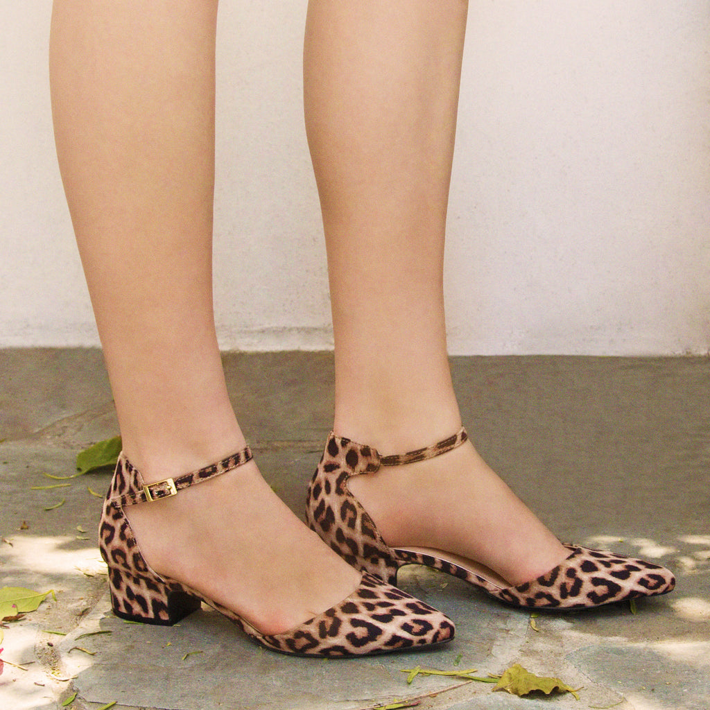 4c5f17bd72d3 Qupid Women Shoes Swing-01 Camel Leopard Ankle Strap Sandal