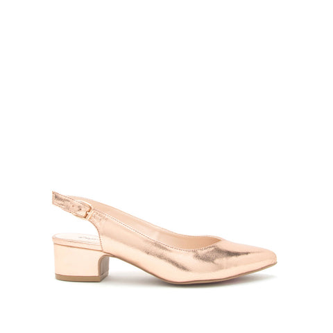 Swing-18 Rose Gold Metallic Slingback Sandal