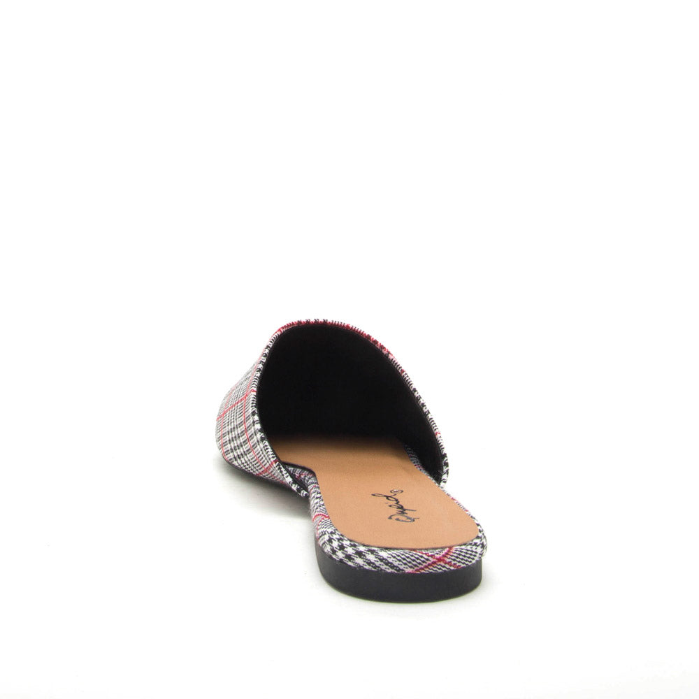 Swirl-126 Black Red Mule Slide