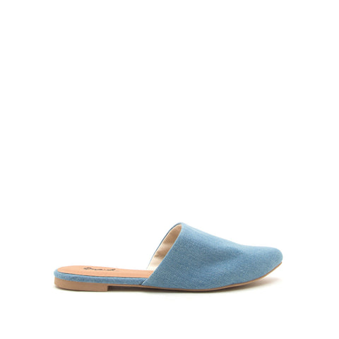 Swirl-126 Light Blue Denim Mule Slide