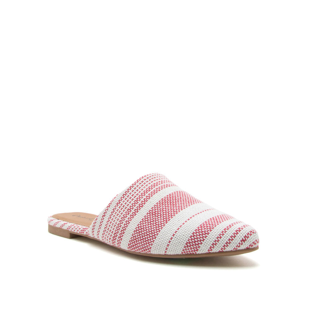 Swirl-126 Red White Mule Slide