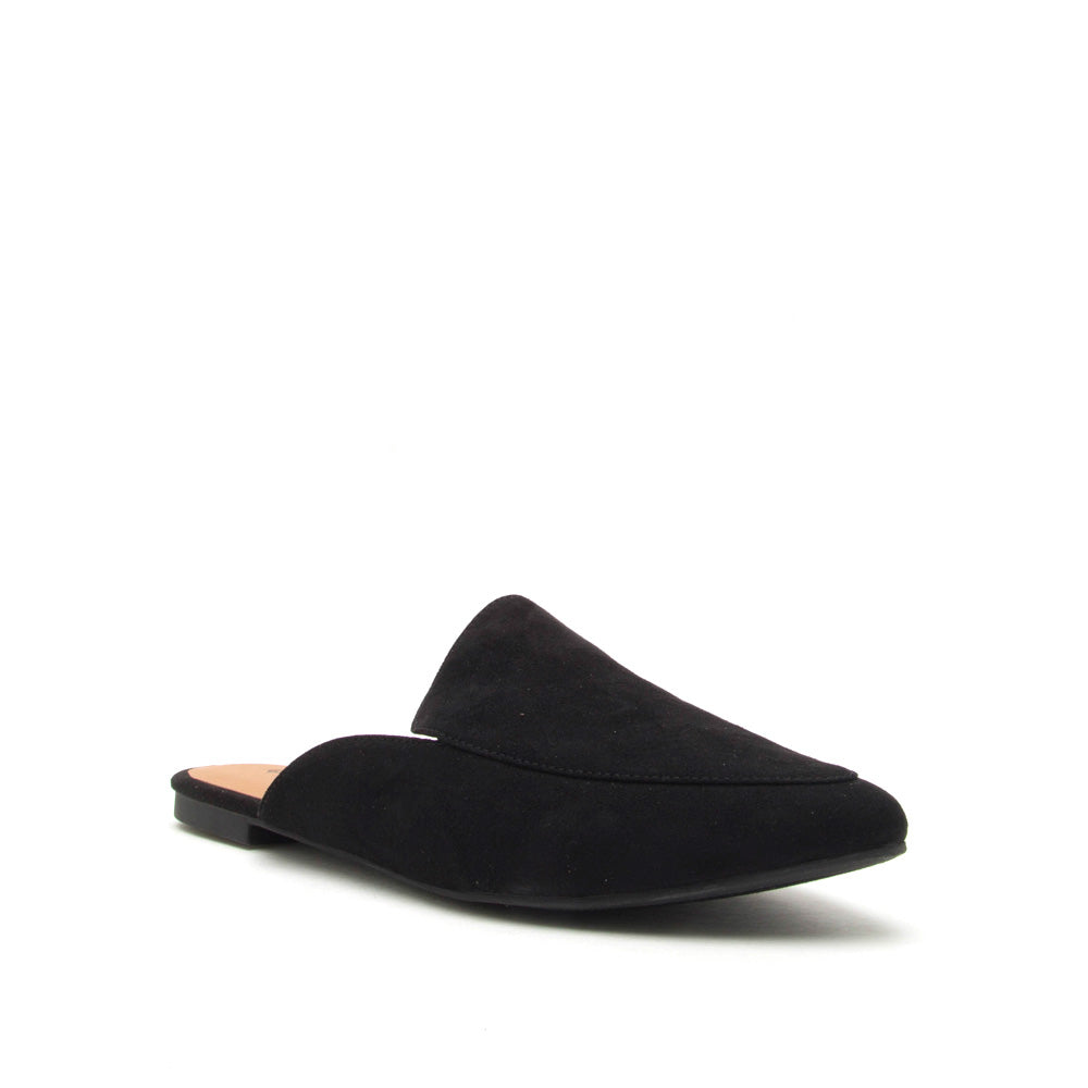 Swirl-135 Black Slide In Mule