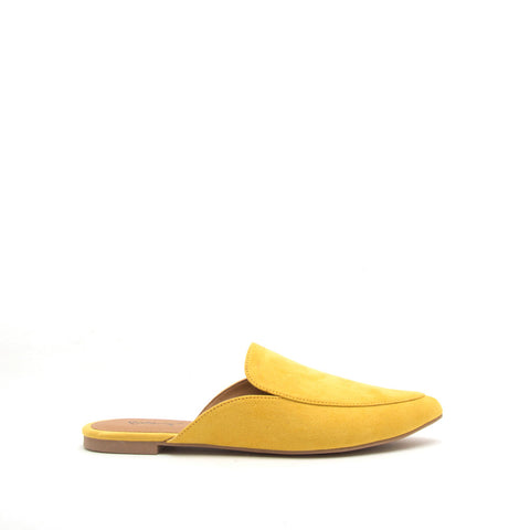 Swirl-135 Yellow Slide In Mule