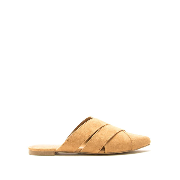 Swirl-190 Butterscotch Mule Ballerinas