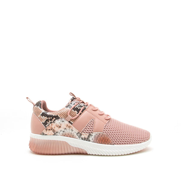Tank-02 Coral Multi Snake Lace Up Sneakers