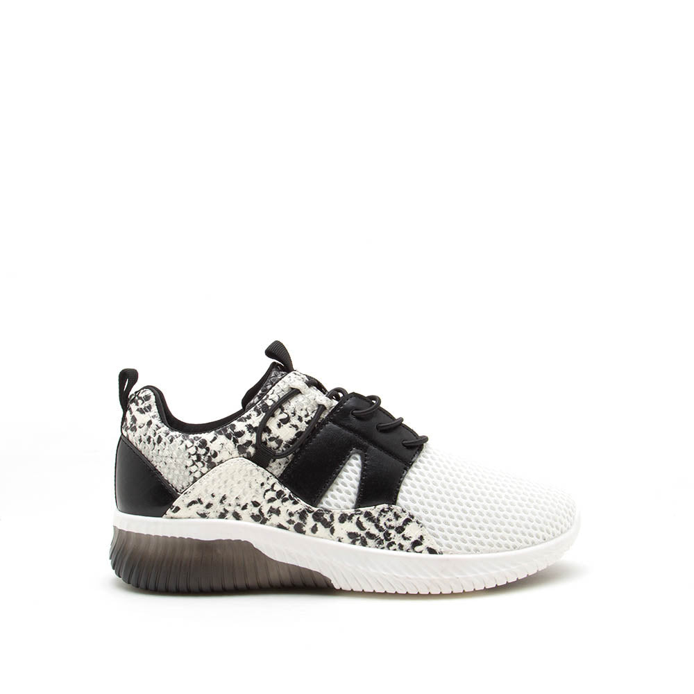 Tank-02 Grey Black Snake Lace Up Sneakers