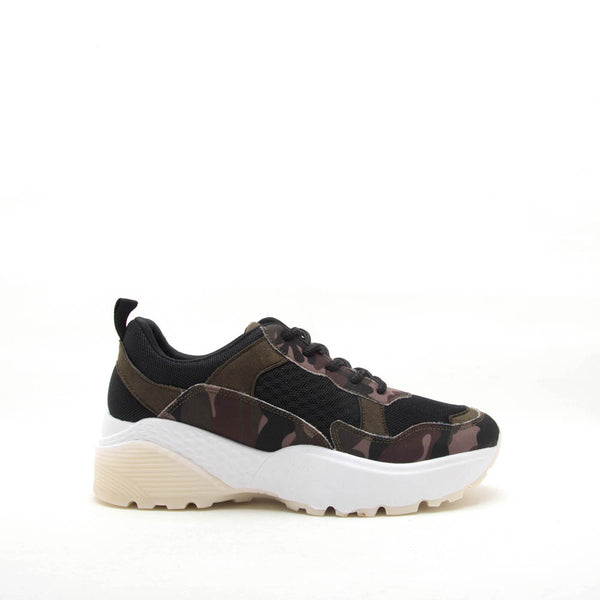 Terrace-01 Khaki Camo Lace Up Sneaker