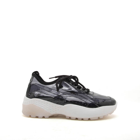 Terrace-07A Black Lace Up Sneakers