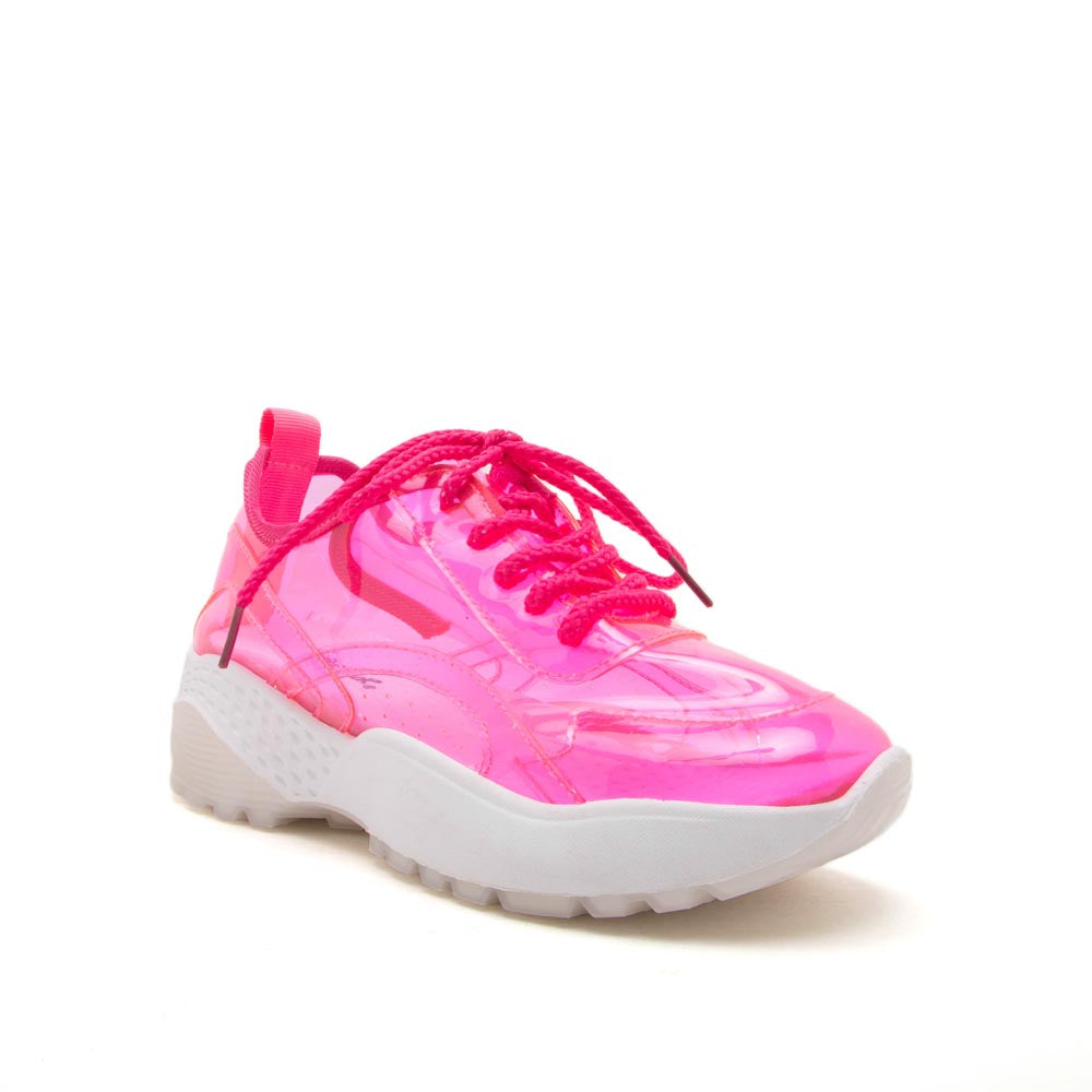 Terrace-07A Pink Lace Up Sneakers