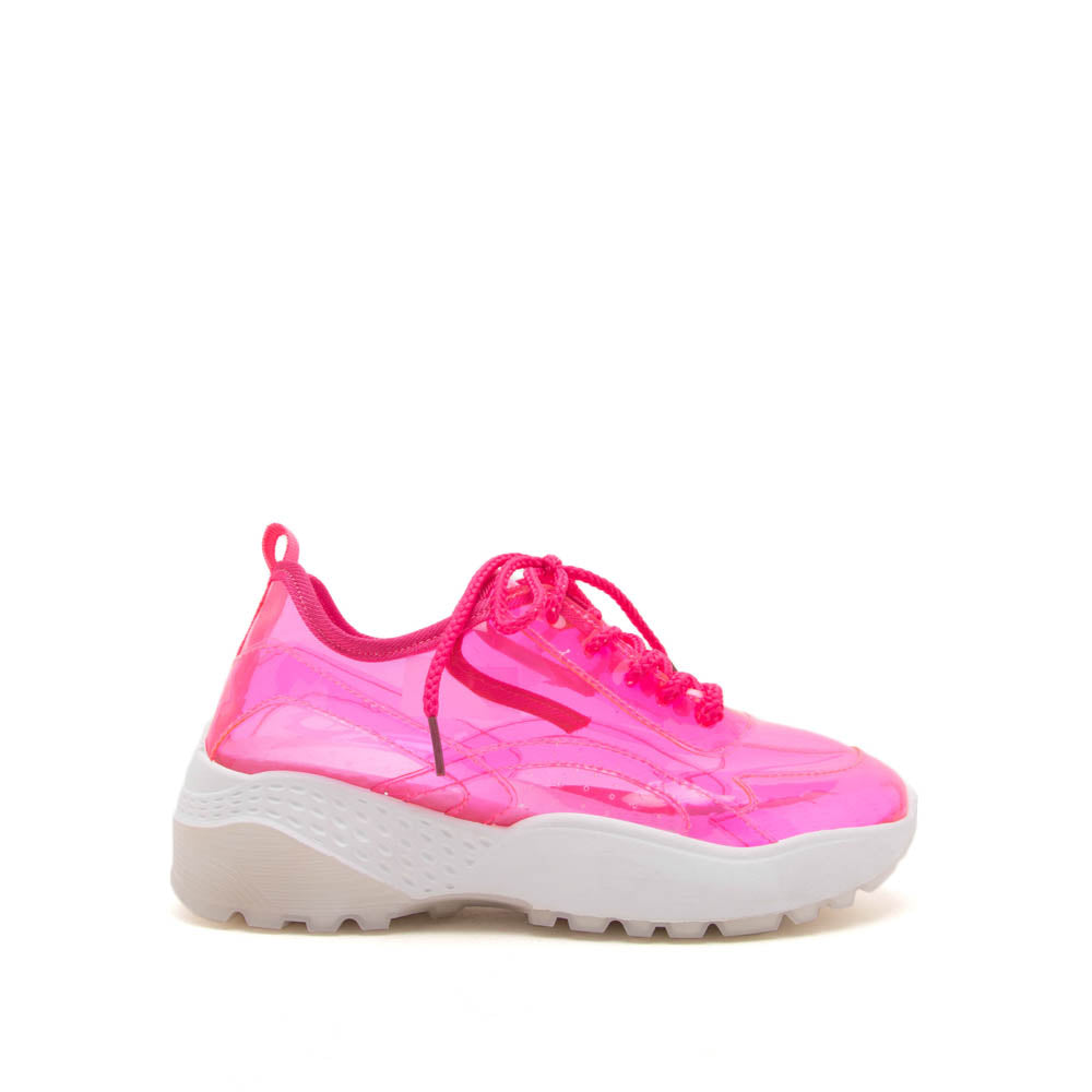 15f8c3d01e05 Qupid Women Shoes Terrace-07A Pink Lace Up Sneakers