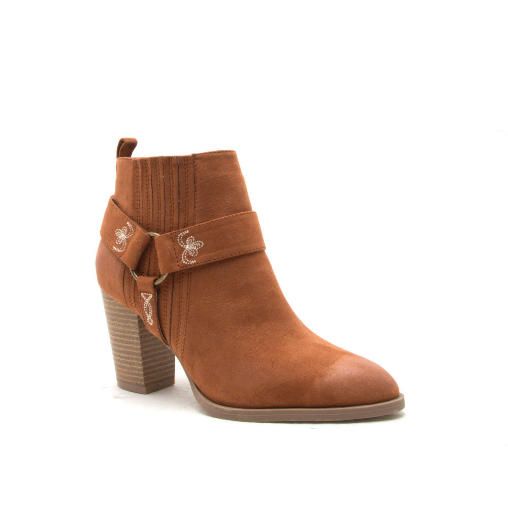 TIBER-05 Rust Embroidered Harness Bootie