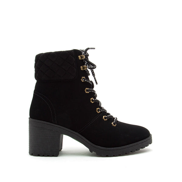 Timothy-08AXX Black Lace Up Booties