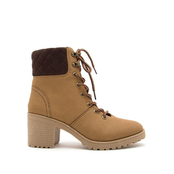 Timothy-08AXX Tan Lace Up Booties