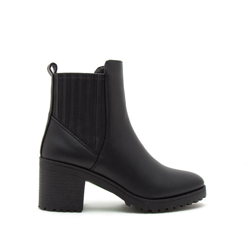 Timothy-14AXX Black Chelsea Booties