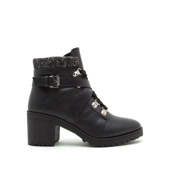 Timothy-15AX Black Lace Up Hike Booties