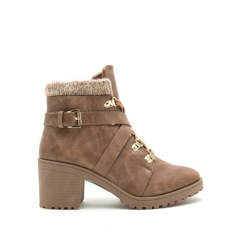 Timothy-15AX Warm Taupe Lace Up Hike Booties