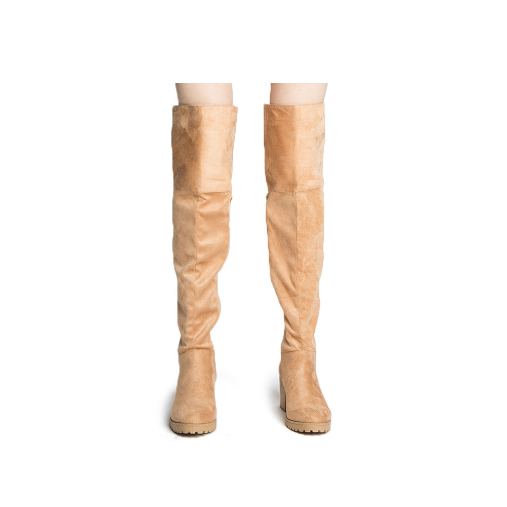 Timothy-16AX Toffee Knee High Boots