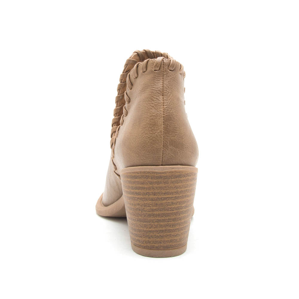 Tobin-125 Taupe Crinkled Bootie