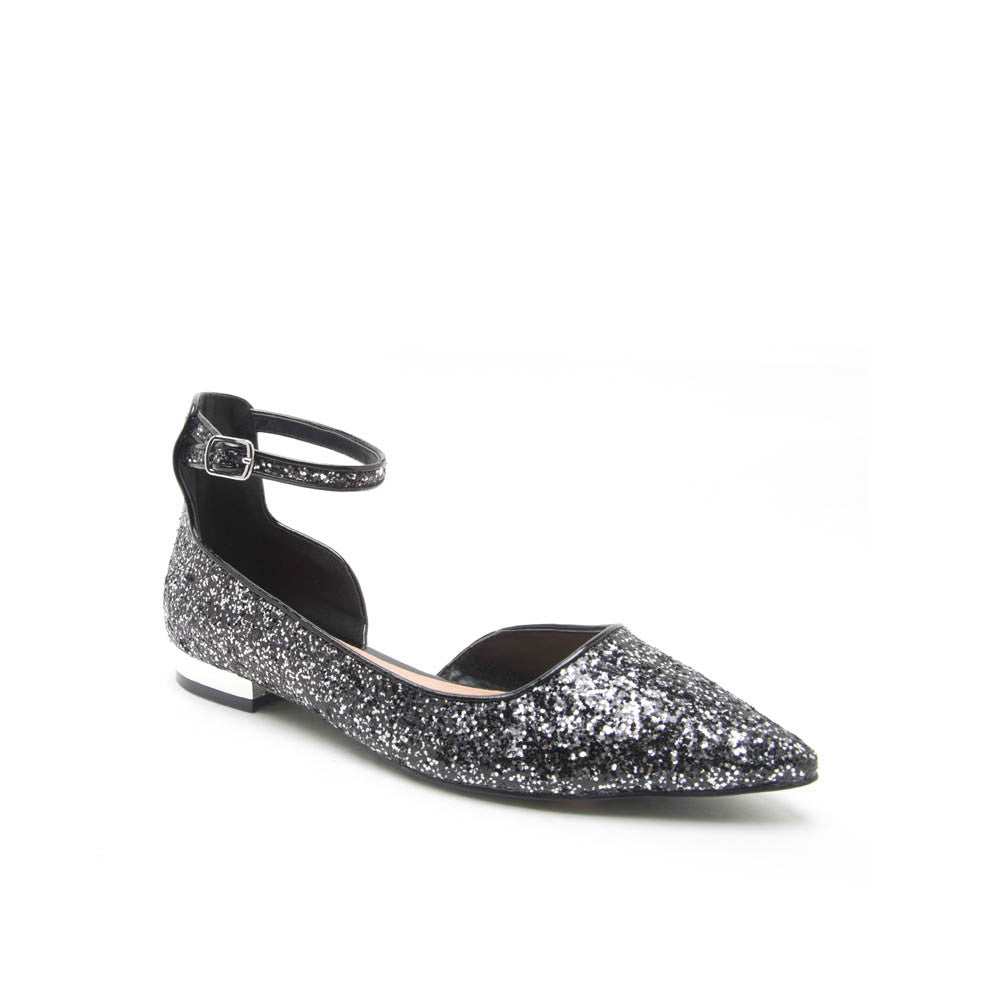 TOKEN-04X Glitter with Silver Details Point Flat