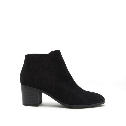 Topanga-01 Black Chelsea Booties